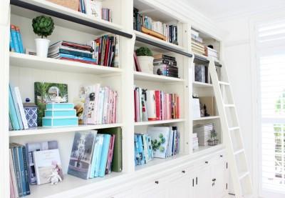 Library Bookshelf styling