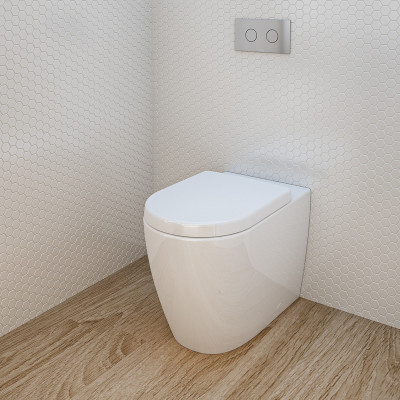 Urbane Wall Faced Toilet Suite Induct Cistern