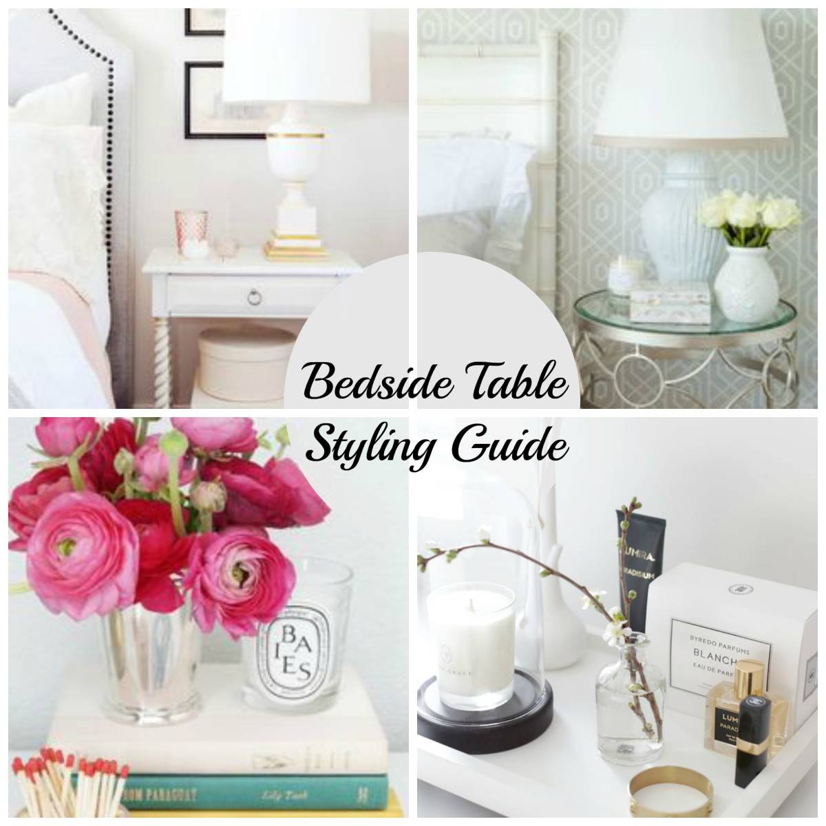 How to Style a Bedside Table-Home Improvement Thursday