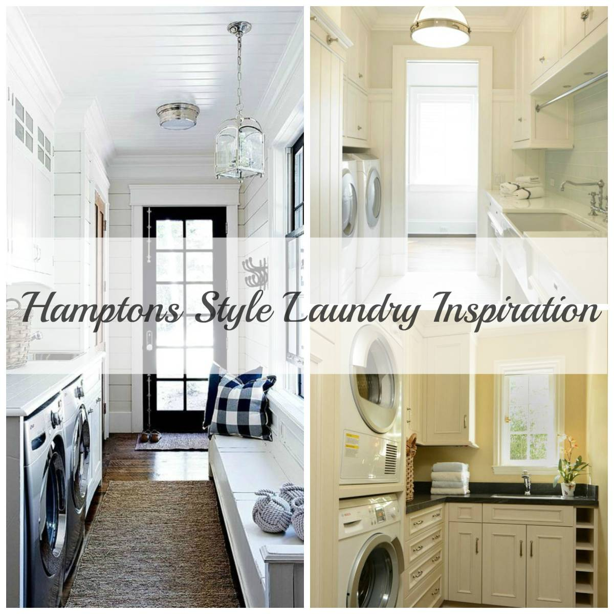 Hamptons Style Laundry-Inspired Space