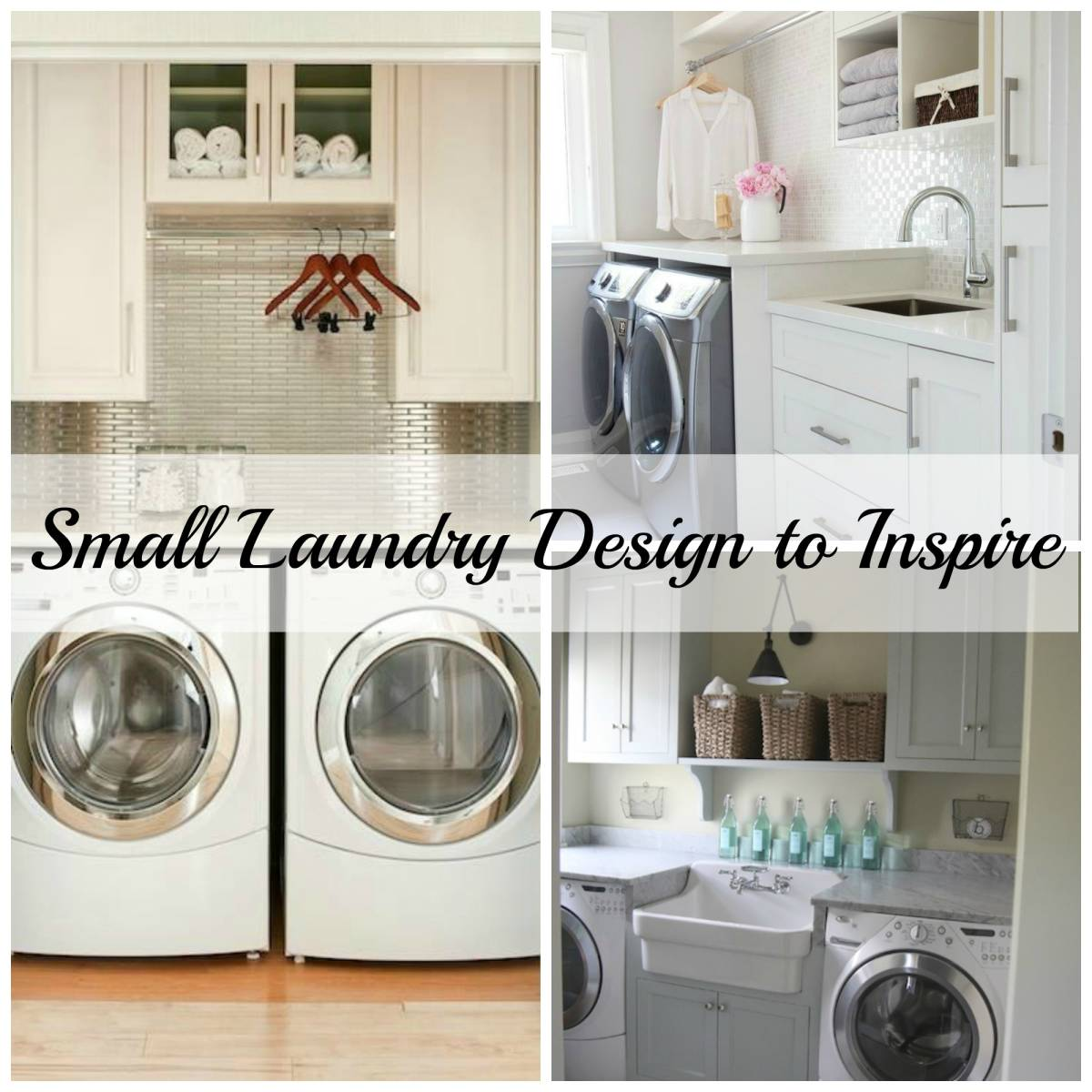 Small laundry room ideas pinterest for Laundry room design ideas