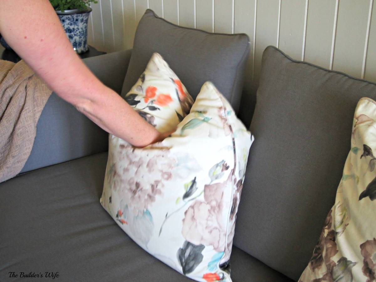 How to Chop a Cushion-Home Improvement Thursday