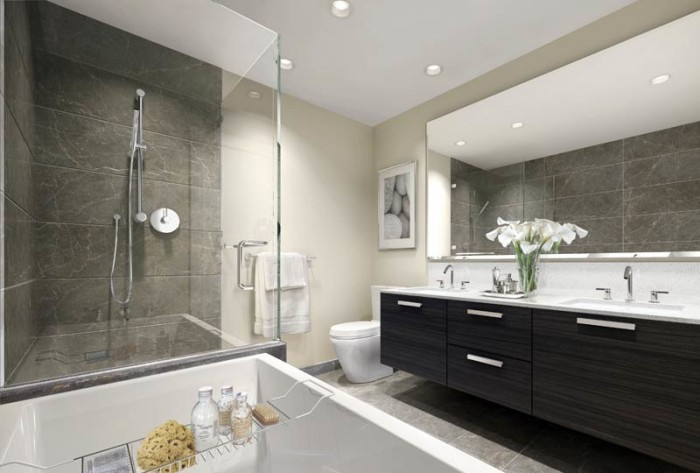Contemporary ensuite inspired space the builder 39 s wife for Modern small ensuite