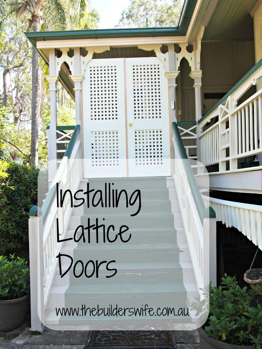 Pen Y Llechwedd – Installing Lattice Doors