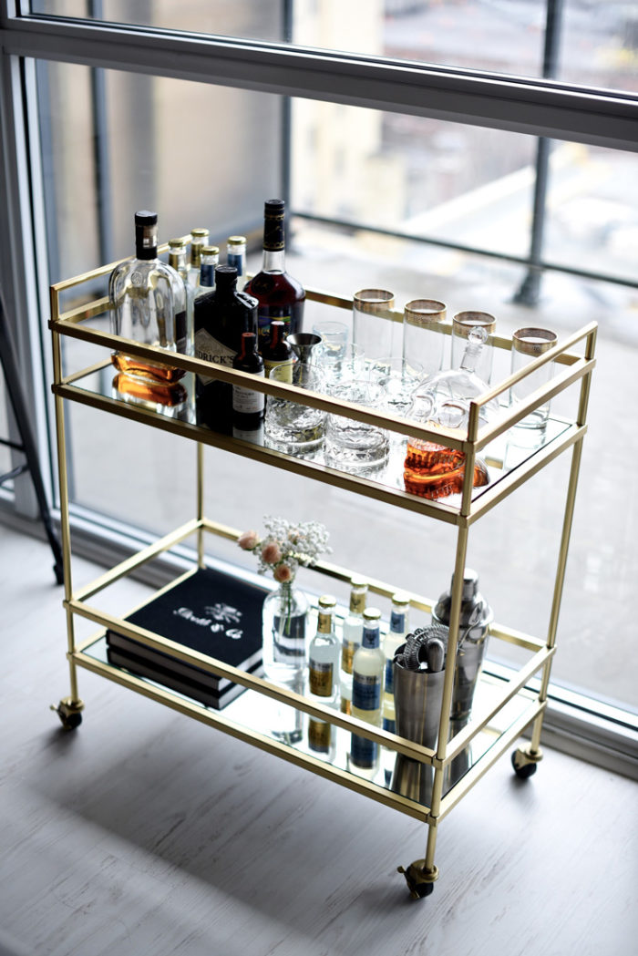 9 Ways To Style A Bar Cart Home Improvement Thursday