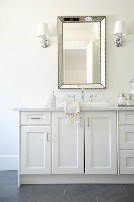 Innovative Hampton Design  Bathrooms  Restoration Hardware Framed Lit Right