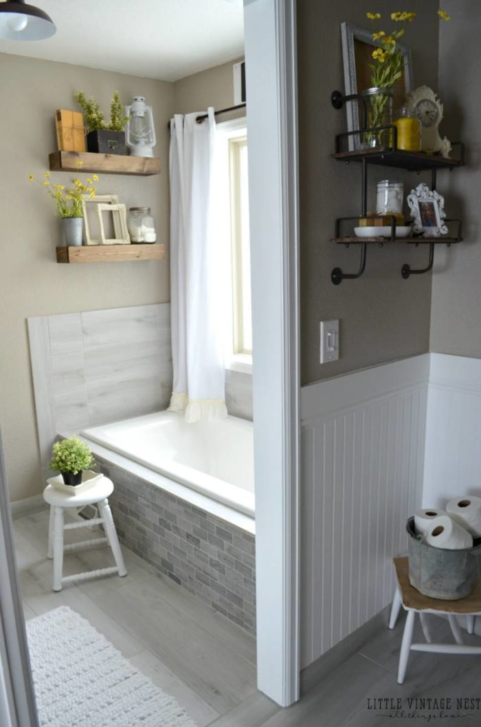 Farmhouse bathrooms inspired space the builder 39 s wife for What s new in bathrooms 2016