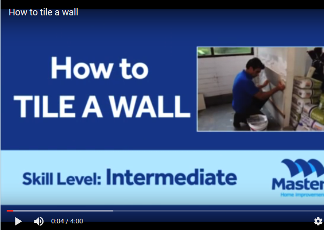 Masters How To Lay Wall Tiles