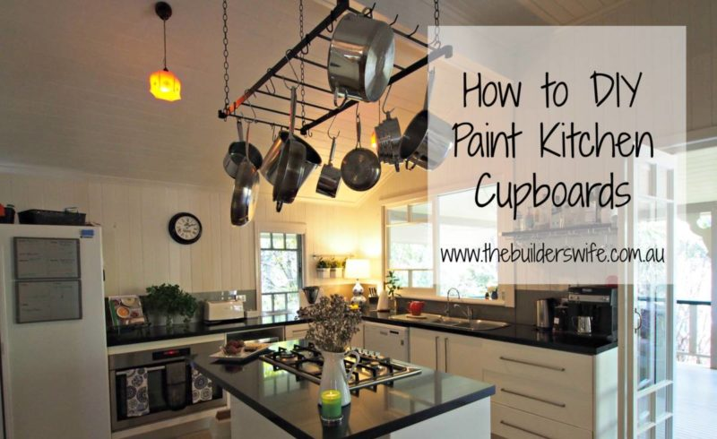 how to diy paint kitchen cupboards - #hit - the builder's wife