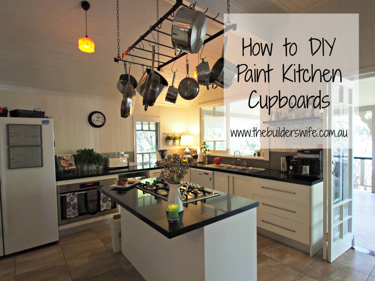 How to diy paint kitchen cupboards hit the builder 39 s wife for Builders warehouse kitchen cabinets