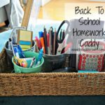 Back To School Homework Caddies