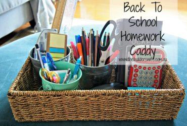 Back To School Homework Caddies