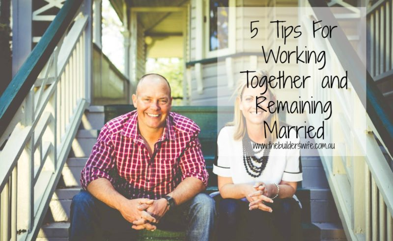How to Work Together and Remain Married