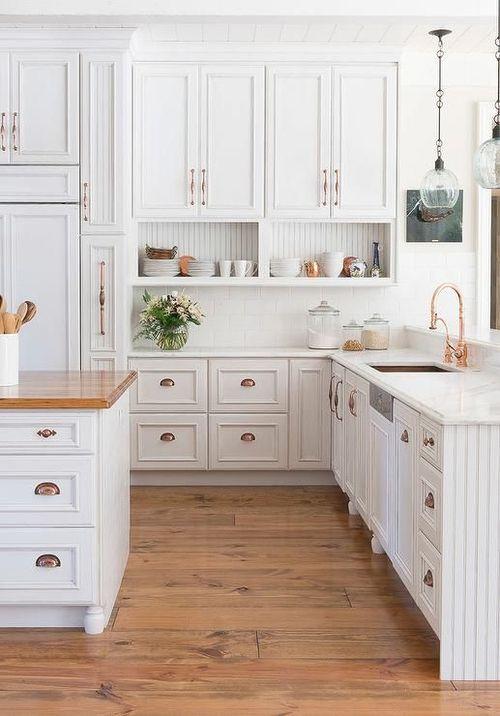 white-cabinets-copper-hardware