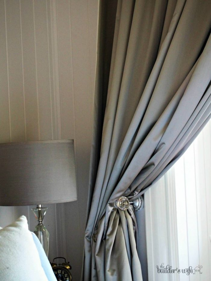 Grey silk curtains in our 100+ year old Queenslander.