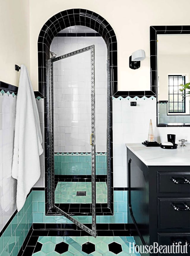 art deco style bathrooms colouful bathroom