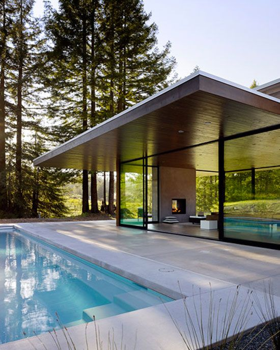 summer pool house