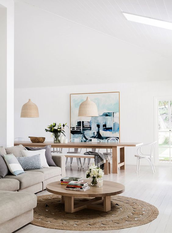 summer styling declutter living room dining table lounge