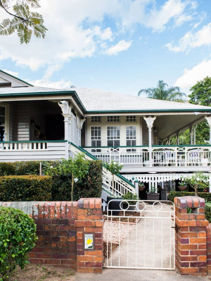 weatherboard grey white classic queendslander house colours heritage green