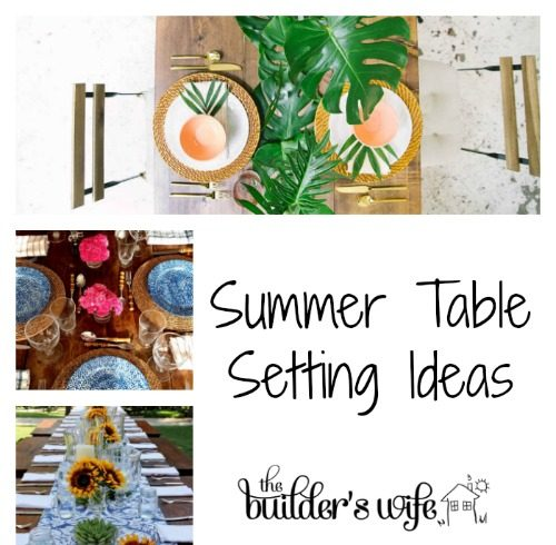 Summer Table Setting Ideas