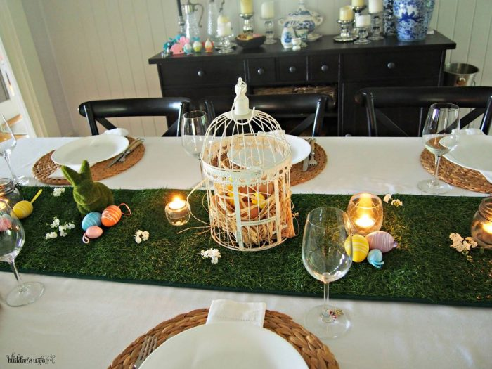 budget Easter table