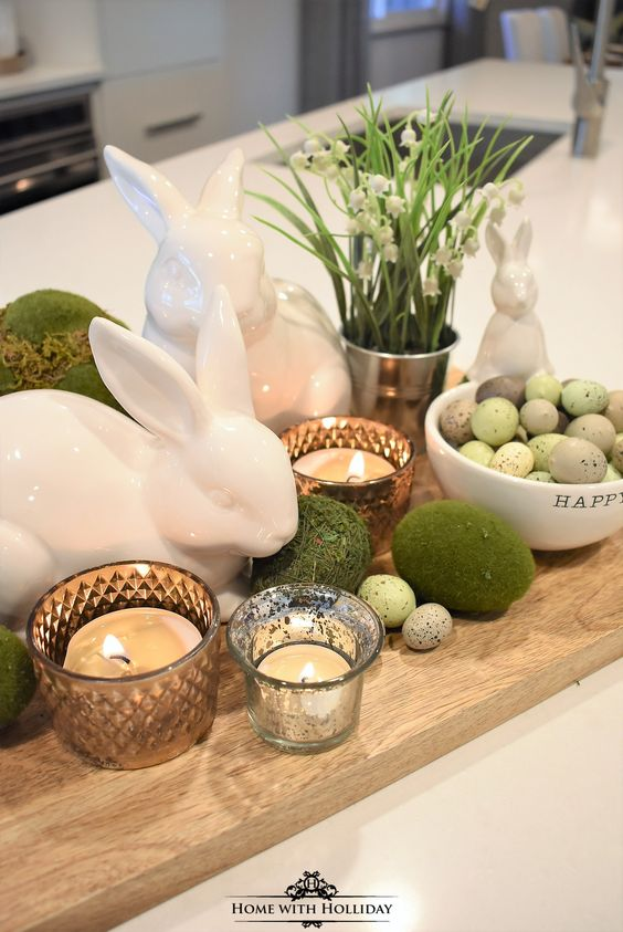 Easter decorating, centerpiece, Easter