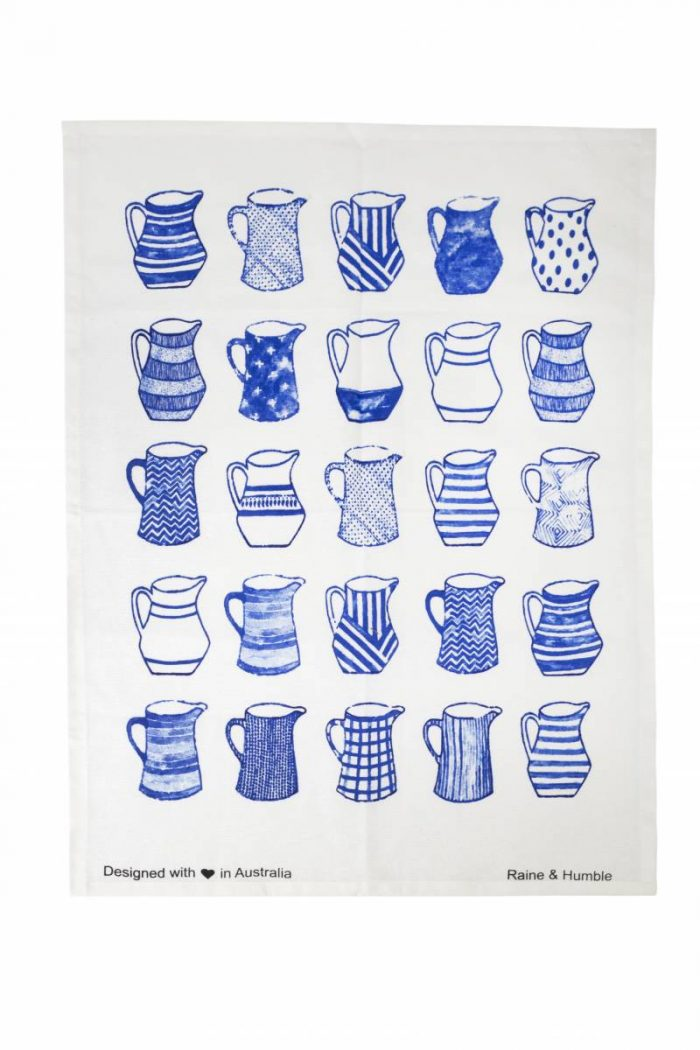 tea towel kitchen blue and white