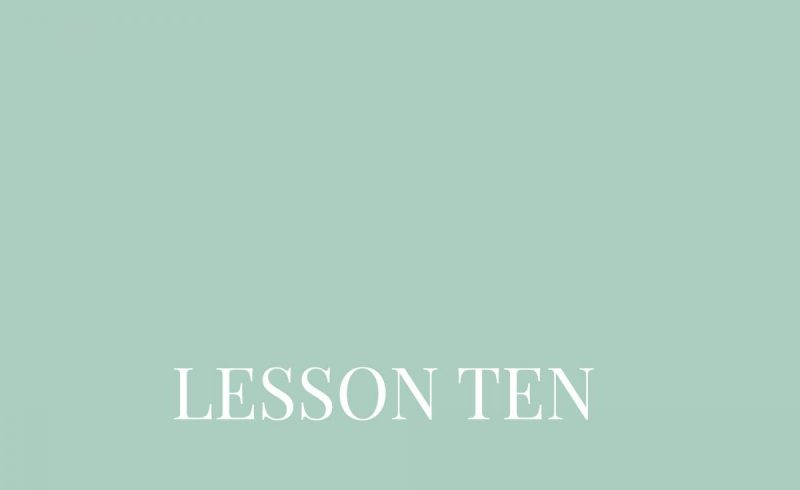 Lesson Ten – Inside The Build