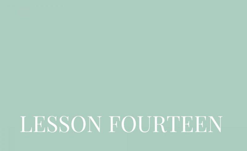 Lesson Fourteen – Inside The Build