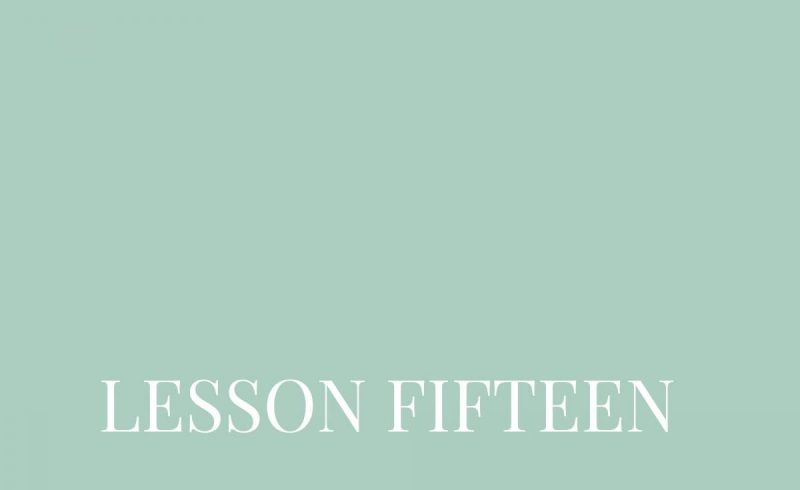 Lesson Fifteen – Inside The Build