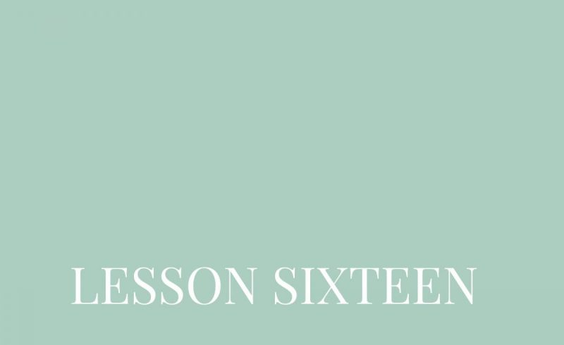 Lesson Sixteen – Inside The Build
