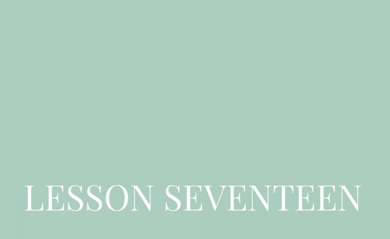 Lesson Seventeen – Inside The Build