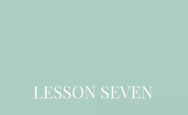 Lesson Seven – Inside The Build