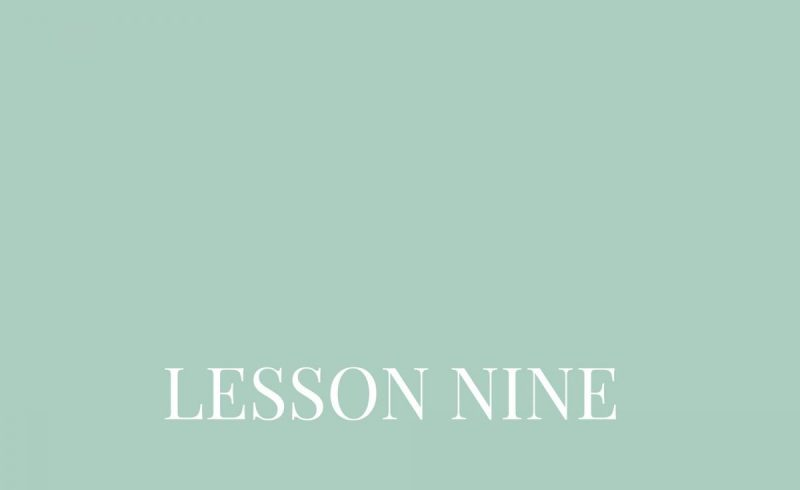 Lesson Nine – Inside The Build