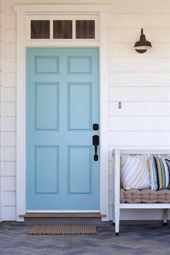 coloured front doors