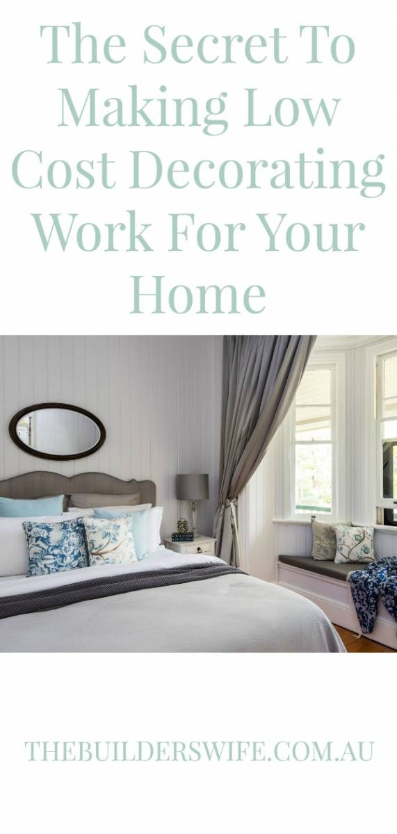 making low cost decorating work